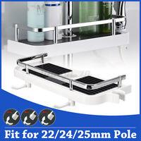 NEW Pole Shelf Shower Storage Caddy Rack Organisers Tray Holders For Bathroom !