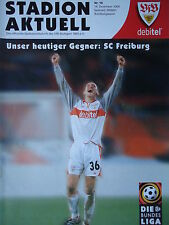 Programm 2000/01 VfB Stuttgart - SC Freiburg