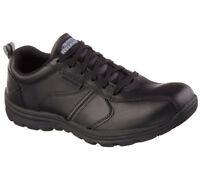 77036 Skechers Men's HOBBES-FRAT Slip Resistant Work Shoes Black