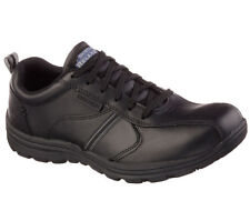 77036 Skechers Men's HOBBES-FRAT Slip Resistant Work Shoes Black