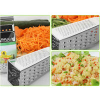 Kitchen Craft Heavy Duty Stainless Steel 4 Sided Box Grater Food Grater Shredder