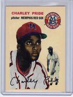 CHARLEY PRIDE MEMPHIS RED SOX NEGRO LEAGUE CUSTOM BOB LEMKE '54 STYLE #251