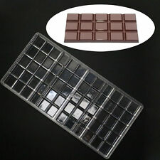 Polycarbonate Chocolate Bar Molds PC Candy Sugarcraft Clear Hard Plastic Mould
