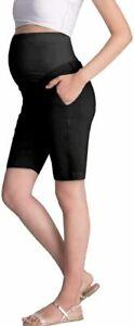 Super Comfy Stretch Women's Skinny Maternity Jeans, Bermuda Black, Medium