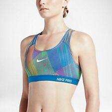 NWT Nike Pro Classic Padded Frequency Women Sports Bra Photo Blue 743204-435 XS