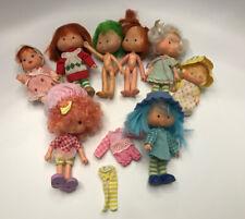 Lot of #8 Vintage Strawberry Shortcake Dolls 1979 American Greetings Babies
