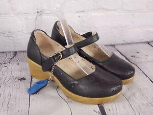 Alegria - Perforated Leather Mary Janes - Rene - Black - EU 35 US 5