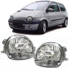 Klarglas Scheinwerfer chrom - Paar für Renault Twingo 98-07