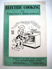 "Vintage Reddy Kilowatt  ""Electric Cooking for Tomorrow's Homemakers"" Booklet *"