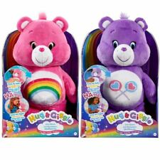 Care Bears Hug & Giggle Soft Toy Plush Laugh Cuddle Tickle With Sound 30cm