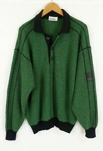 Vintage Carlo Colucci  80's 90's Wool Blend Waffle Knit Jumper Germany XL
