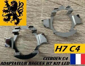 2x Bagues Adaptateurs KIT LED H7 CITROËN C4 C5 AIRCROSS QASHQAÏ Xtrail AUDI BMW