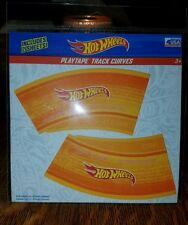 Hot Wheels (1/64 scale)Play Tape Track Curve Orange 2 sheets (REUSABLE)