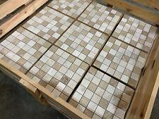 Inghiottita legno muro piastrelle legno mosaico caffè pub pannelli