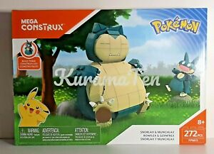 Pokemon Snorlax and Munchlax Mega Construx Set #FPM11  272 pcs NEW 8+