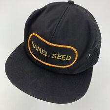 Hamel Seed K-Products Vintage Trucker Cap Hat Snapback Patch