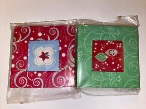 Lot of 2 Creative Memories Mini Frame Ornament Red & Green NEW