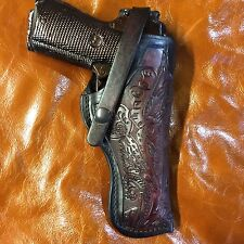 """Colt 1911 5"""",Springfield,Remington,Kimber, Right Hand Leather Holster"""