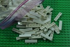 50 X  lego 1 X 4  FLAT TILE  WHITE 243101