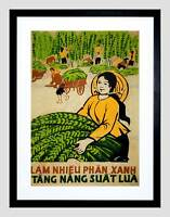 POLITICAL ECONOMY VIETNAM FERTILE RICE PRODUCE FRAMED ART PRINT MOUNT B12X4522