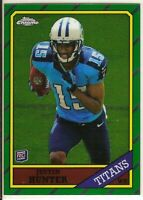 2013 Topps Chrome JUSTIN HUNTER #19 RC 1986 - Tennessee Titans 🏈
