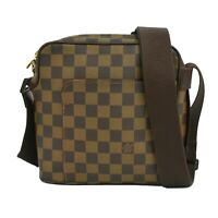 Louis Vuitton Olav PM N41442 Damier Shoulder Crossbody Bag Men Unisex Brown LV