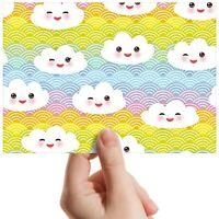 "Happy Rainbow Cloud Face Wave Small Photograph 6""x4"" Art Print Photo Gift #14706"