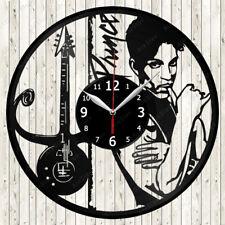 Prince Music Vinyl Record Wall Clock Decor Handmade 1549