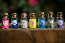 10 x Small / Mini Bottles Of Fairy Dust, Party Bag Filler Choose your colours