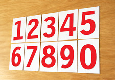 Church Hymn Numbers / School plastic Hymn board Number Sets – Red on White