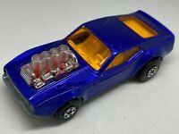 Matchbox Lesney Superfast No 10 Mustang Piston Popper Metallic Blue - NM