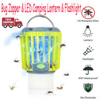Bug Zapper & LED Camping Lantern & Flashlight Rechargeable Mosquito Killer Lamp