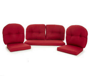 """NEW - Red 7-Piece """"Westwood"""" Patio Cushion Set By Wilson & Fisher"""