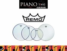 """Remo Drum Head Pack-Emperor Clear Fusion Plus 10"""", 12"""", 16"""" + 14""""Amb(PP-1860-BE)"""