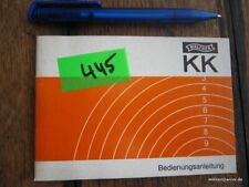 factory made Walther KK UIT match, Manual, 1977, multi lingual,  original