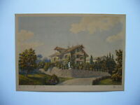 Schweiz Landhaus, Aquarell 1884, Hans Auer