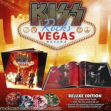 KISS Rocks Vegas Deluxe Edition Blu-ray + DVD + 2 CD In HARDCOVER Book LAST ONE!