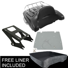 Chopped Trunk Pack Trunk Backrest + Portapacchi per Harley Touring 14-20