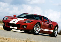 Red 2006 Ford GT - Exotic Sports Car Poster - Sports Car Photo Print - Wall Art