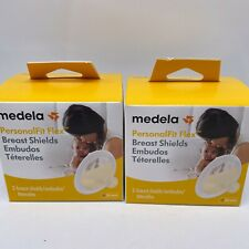 2 X - Medela PersonalFit Flex Breast Shields 2 Pack of Cover Smooth Natural Feel