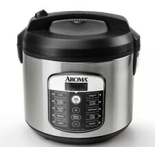 Aroma 20 Cup Digital Multicooker & Rice Cooker - Stainless Steel Used