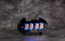 Nixie Tube Clock IN-12. Batclock. Plexiglass enclosure. Best gift.