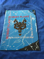 Robert Plant NON STOP GO TOUR book 1988 Led Zeppelin Rock n Roll