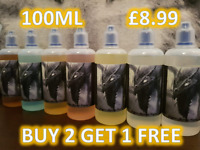 40+Flavours ,100ml E Liquid Vape juice 0mg 3mg 6mg Cloud Chasing 70vg/30pg