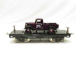 MTH 10-1163 Standard Gauge 200 Series MTHRRC Flat Car w/Purple Pick-Up LN