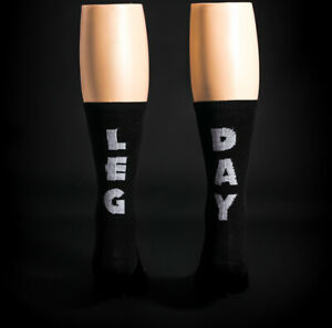 2PK Solo Warrior Men's Cycling Socks Men's Size 8-12 Black / White Leg Day Socks