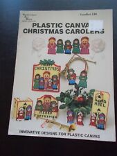 Plastic Canvas Christmas Carolers Leaflet - Needlecraft Ala Mode Leaflet 138