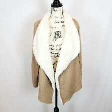 NEW Label Of Graded Goods H&M Tan Long Sleeve Sweater/Jacket/Cardigan LARGE