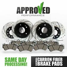 [Front and Rear Kit] Performance Drilled & Slotted Brake Rotors & Ceramic Pads