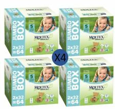 Moltex Couches Taille 5 Junior Jumbo Biodégradable 11-25kg (4 x 64 couches)